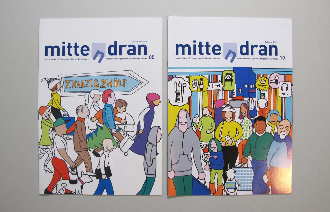 mittendran, cover